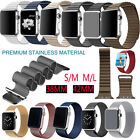 Magnetic Leather Milanese Stainless Steel Loop Watch Strap for Apple iWatch Band