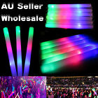 15~300PCS Light-up LED Foam Glow Stick Flashing Baton Wand For Party Concert