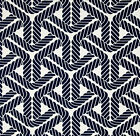 Sail Rope Navy Outdoor Fabric, Topsail Trellis Navy Nautical Fabric by the yard