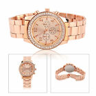 Fashion Ladies Women Crystal Diamond Dial Stainless Steel Quartz Wrist Watch