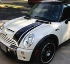 Bonnet Boot Decals Offset stripe stripes fit any yr model Mini Cooper S Clubman