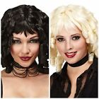 GHOST DOLL WIG FANCY DRESS HALLOWEEN COSTUME GOTHIC LADIES RINGLET CURLY WOMENS
