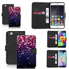 faux leather wallet case for many Mobile phones - falling gem