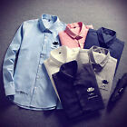 Long Sleeved T Shirt Casual Men's Trendy Cotton Blend  Long Sleeve Casual Shirts