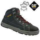 MENS CATERPILLAR LEATHER STEEL TOE CAP SAFETY WORK TRAINER SHOE BOOTS SIZE