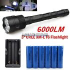 6000 Lumens CREE Militac LED Flashlight XM-L T6 Torch 18650 Rechargeable Lumify