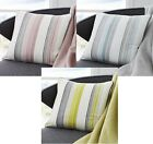 """RYDALL MODERN STRIPED CUSHION/SOFA COVERS,3 GREAT COLOURS SIZE 17""""x17"""""""