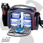 Insulated Lunch Box Portion Control Diet Gym Bag Storage Containers Ice Pack New