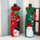 Christmas Decoration Sequins Snowman/Santa Claus Red Wine Bottle Cover Bags