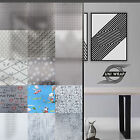 White Frosted Window Privacy Film - Squares - Plain - Lines  * 15 GREAT DESIGNS*