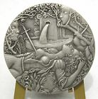 Tragic Death/ Murder of Inês de Castro/ THE LUSIADS Poet Camoens Tin Medal