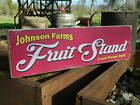 """Distressed Primitive Country Wood Sign - Your Name Farm Fruit Stand 5.5"""" x 19"""""""
