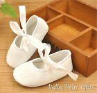 S009 Star White Lace Ballet Shoes Baby Girl sizes 0-9 months