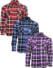 Relco Mens Brushed Flannel Cotton Lumberjack Check Long Sleeve Work Shirt