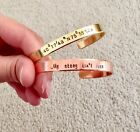 Personalized Cuff Bracelet, Hand Stamped Custom Bracelet Name, Quote Cuff