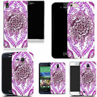 hard durable case cover for most mobile phones - purple delighted floral