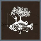 Fishing T SHIRT Fish fisherman hunting fly lure rod vest I'd rather be marlin T
