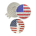 Golf Hat Clip W Crystal Golf Ball Marker(1clip 2markers)