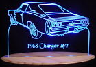 "1968 Charger R/T Edge Lit Lighted Led Sign 11-13"" Plaque 68 VVD2 Made in USA"