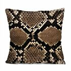 """SNAKE SKIN Decorative Pillow Case Cushion 16 """"18"""" 20"""" Zippered Cover #4"""