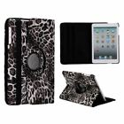 Leopard Animal Print Case Cover Stand for iPad Mini 1 2 3 PU Leather