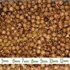 Olive Wood Round Beads Polished Rosary Jewelry Holy Land Bethlehem Jerusalem