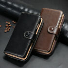 Genuine Real Leather Zipper Wallet Card Case Cover For Apple iPhone 6S 7& 7 Plus