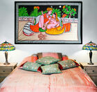 erotic kamasutra sex position painting batik wall hanging ethnic tapestry decor