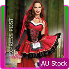 Ladies Little Red Riding Hood Costume Fancy Dress Halloween Storybook Outfit