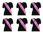 PINK Black Text HEN NIGHT Party SASH Bride etc SASHES Free 1st Class Post