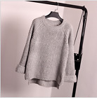 Women Long Sleeve Loose Cardigan Knitted Sweater Jumper Knitwear Outwear Coat