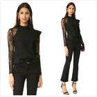 NWT Self Portrait $375 Ophelia Blouse Top In Black Authentic Guareented