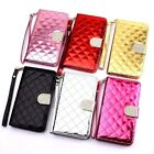 Bling Rhinestone Diamond Leather Flip Wallet Case Cover samsung galaxy note 5