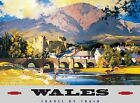 WALES TRAVEL BY TRAIN WELSH RAILWAY CARDIFF SWANSEA TIN SIGN METAL PLAQUE 668