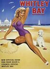 WHITLEY BAY BEACH SEASIDE HOLIDAY SIGN METAL PLAQUE VINTAGE RETRO NOSTALGIC 670