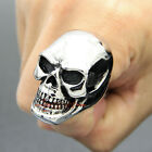 Huge Stainless Steel Skull Men's Ring Polished Silver Very Heavy Largest Version