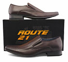 Mens New Brown LEather Lined Slip On Smart Casual Shoes 6 7 8 9 10 11 12