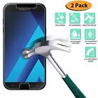 2Pcs 9H+ Tempered Glass Clear Screen Protector For Samsung Galaxy A3 A5 A7 2017