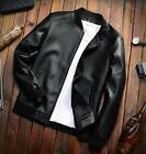 New Men's Lambskin Leather Jacket Black Slim fit Biker Motorcycle jackets