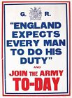 ENGLAND EXPECTS EVERY MAN TO DO HIS DUTY ARMY RECRUITMENT SIGN METAL PLAQUE 430