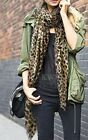 "SALE! Lovely Leopard Print Long Oversized Scarf 68"" x 40""  Holiday Christmas NEW"