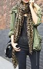 """SALE! Lovely Leopard Print Long Oversized Scarf 68"""" x 40""""  Holiday Christmas NEW"""