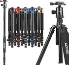 Professional Aluminum Travel Tripod Monopod&Ball Head Portable for DSLR Camera