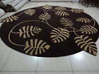 Indian Thick Soft Hand Tufted Round Modern Bespoke Wool Carpet Area Rug Leaf