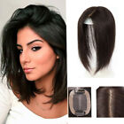 "2.7''x3.9"" Mono & PU 100% Human Hair Topper Long Hairpiece Top Piece For Women"