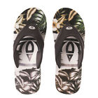 ANIMAL NEW Mens Black / White Animal Jekyl Aop Flip Flops BNWT
