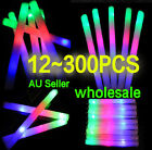 12~300PCS LED Foam Sticks Flashing Glow Light-up Cheer Batons Wand Party Concert