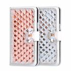 Rhinestone Case For LG Diamond Flip Wallet PU Leather Cover Card Slots Stand