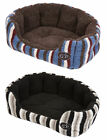 FixedPricepuppy dog sherpa fleece snuggle bed gor pets monza striped washable pet basket