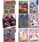 Character Childrens Marvel Disney Cars Captain America Duvet Cover Bedding Set